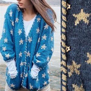 AMANO Star Knit Vintage Wool Cardigan Rare
